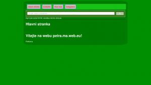 náhled webu petra.maweb.eu