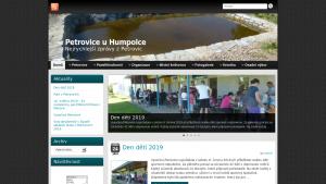 náhled webu petrovice.mzf.cz