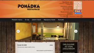 náhled webu pohadkacb.cz