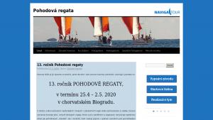 náhled webu pohodovaregata.cz
