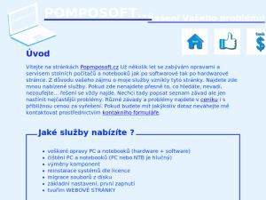 náhled webu pomposoft.cz