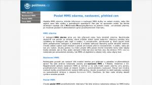 náhled webu poslimms.cz