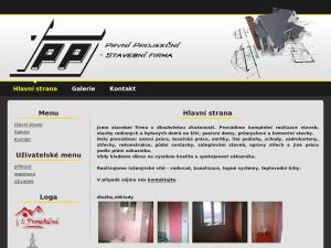 náhled webu projekcni.eu