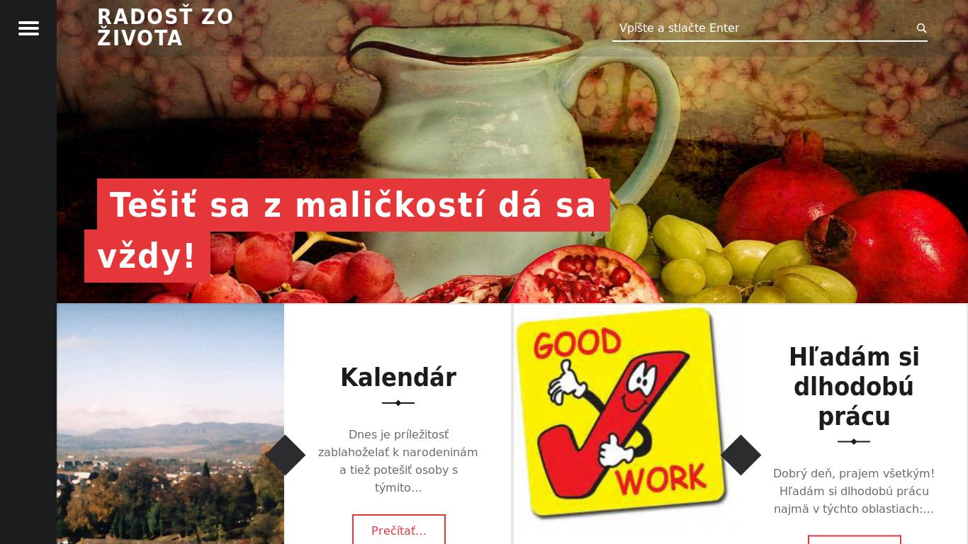 náhled webu radost-zo-zivota.6f.sk