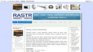 náhled webu rastr.hys.cz