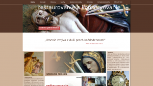 náhled webu restaurovanie.org
