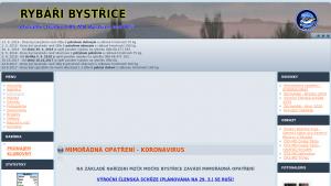 náhled webu rybaribystrice.cz