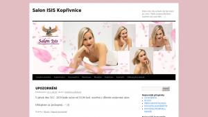 náhled webu salonisis.eu