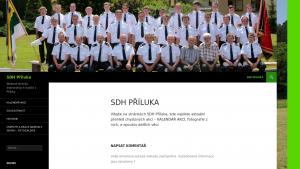náhled webu sdhpriluka.4fan.cz