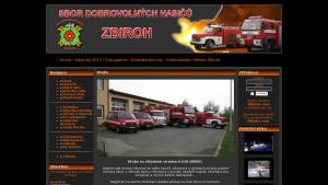 náhled webu sdhzbiroh.cz