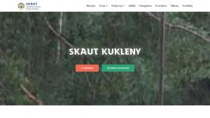 náhled webu skautkukleny.cz