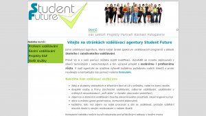 náhled webu studentfuture.cz