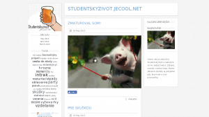 náhled webu studentskyzivot.jecool.net