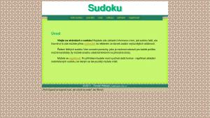 náhled webu sudoku.4fan.cz
