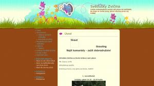 náhled webu svetluskyzvicina.funsite.cz