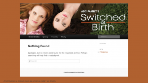náhled webu switchedatbirth.funsite.cz