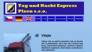 náhled webu tanexpress.cz