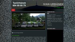 náhled webu taxiurbanek.maweb.eu