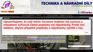 náhled webu technika-dily.cz