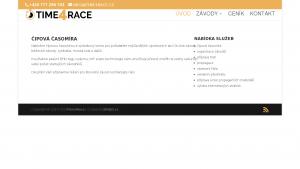 náhled webu time4race.cz