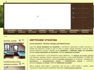 náhled webu ubytovani-na-vysocine.cz