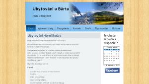 náhled webu ubytovaniubarta.8u.cz
