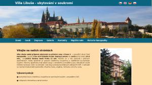 náhled webu villalibuse.cz