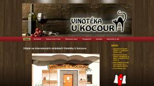 náhled webu vinotekaukocoura.cz