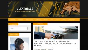 náhled webu vlkator.cz