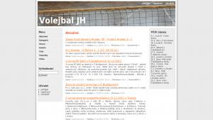 náhled webu volejbal.jecool.net