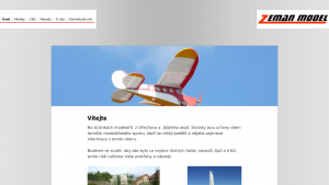 náhled webu zeman-model.g6.cz