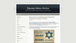 náhled webu zidovsky-hrbitov-hrivcice.hys.cz