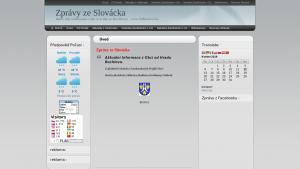 náhled webu zpravyzeslovacka.4fan.cz