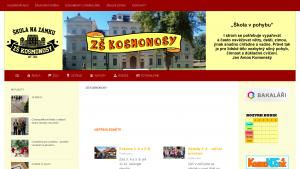 náhled webu zskosmonosy.cz